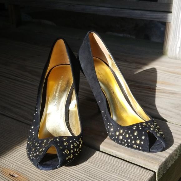 Sigerson Morrison Shoes - Sigerson Morrison black pumps with gold studs size
